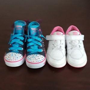 Other - Nike & Sketchers Twinkle Toes Girl sneakers sz 9
